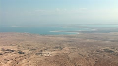 View from Masada: Dea Sea, Israel, Jordan Stock Footage