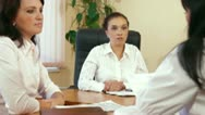 Business Women Working Together Stock Footage