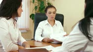 Business Team at Meeting Stock Footage