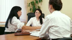 Young Women Discussing Business Issues - stock footage