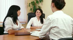 Casual Business Meeting Stock Footage