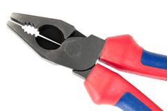 manual locksmith tools, isolated on a white background - stock photo