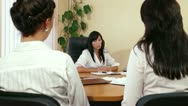 Business Women Discussing In A Meeting Stock Footage