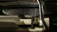 Printing on old typewriter - stock footage