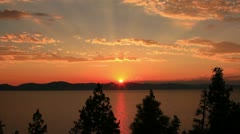 Lake Tahoe 01 Timelapse Sunset Stock Footage
