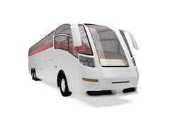 isolated future bus front view over white background - stock illustration