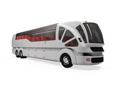 Stock Illustration of isolated autobus over white background