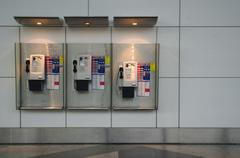 Public phones in klia Stock Photos