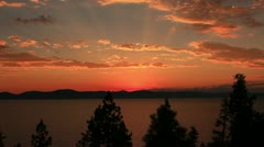 Lake Tahoe 03 Timelapse Sunset Stock Footage