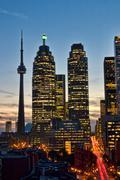 Twilight kaupunkikuvaan, Toronto Kuvituskuvat