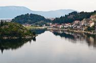 Stock Photo of small town on neretva river in dalmatia, croatia