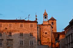 iron gate in diocletian palace in split, croatia - stock photo