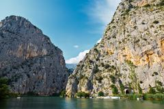 Stock Photo of canyon of mountain river near split, croatia