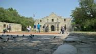 Alamo San Antonio Stock Footage
