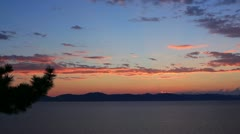 Lake Tahoe 07 Timelapse x40 Sunset Stock Footage