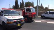 Ambulance and Firetruck driving Stock Footage