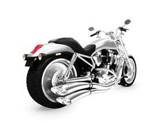 isolated motorcycle on a white background - stock illustration