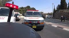 Israeli ambulance driving Stock Footage