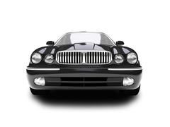 Stock Illustration of isolated black car front view 01