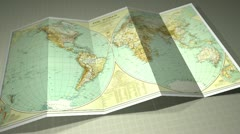 Beautiful Vintage Worldmap Stock Footage