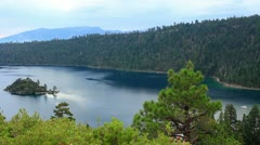 Lake Tahoe 11 Emerald Bay Fannette Island Stock Footage