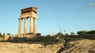 Stock Video Footage of Valley of the Temples Agrigento (Tempio dei Dioscuri)
