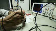 Electronic circuit testing Stock Footage