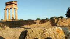 Valley of the Temples Agrigento (Tempio dei Dioscuri) Stock Footage