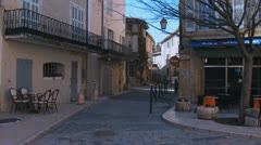 Cafe Gaby in Lourmarin village South of France - stock footage