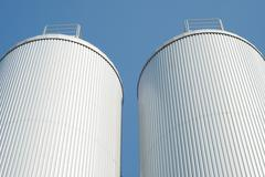 industrial agriculture silo - stock photo