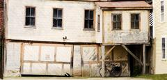 old crooked house - stock photo