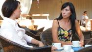 Stock Video Footage of Women Having Coffee Break