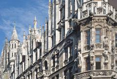Stock Photo of munich town hall in gothic style