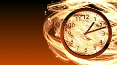 Passing Time Background - Clock 70 (HD) - stock footage