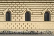 Stock Photo of renaissance architecture with bikes