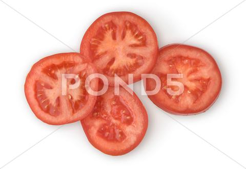 Stock photo of sliced tomato