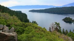 Lake Tahoe 14 Dolly R Emerald Bay Fannette Island Stock Footage