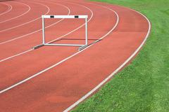 Athletics as symbol of  personal determination Stock Photos