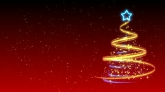Christmas Tree Background - Merry Christmas 14 (HD) - stock footage
