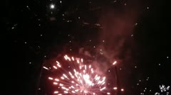 Fireworks in the night Stock Footage