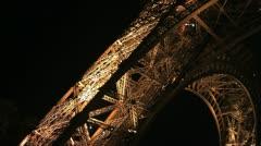 Eiffel tower elevator Stock Footage