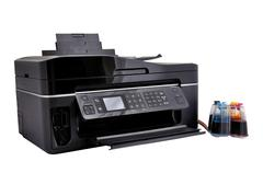 copier and continuous ink supply system - stock photo