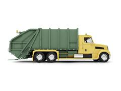 Stock Illustration of isolated trash dump car on white background