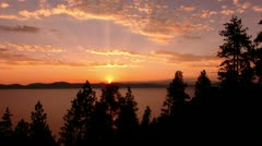 Lake Tahoe 21 Timelapse  Sunset x50 Stock Footage