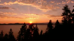 Lake Tahoe 22 Timelapse Sunset Stock Footage