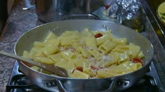 Italian sea food & pasta cooking (13) Stock Footage