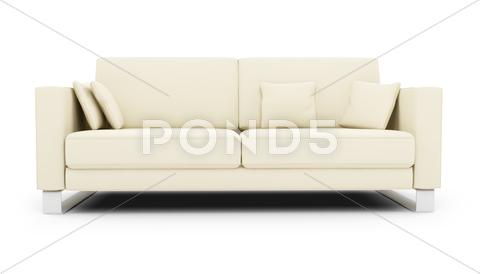 Stock Illustration of isolated white sofa on a white background