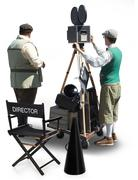 Film crew on set Stock Illustration