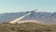Iranian Missile - stock footage