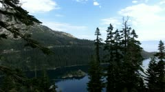 Lake Tahoe 31 Emerald Bay Fannette Island Stock Footage